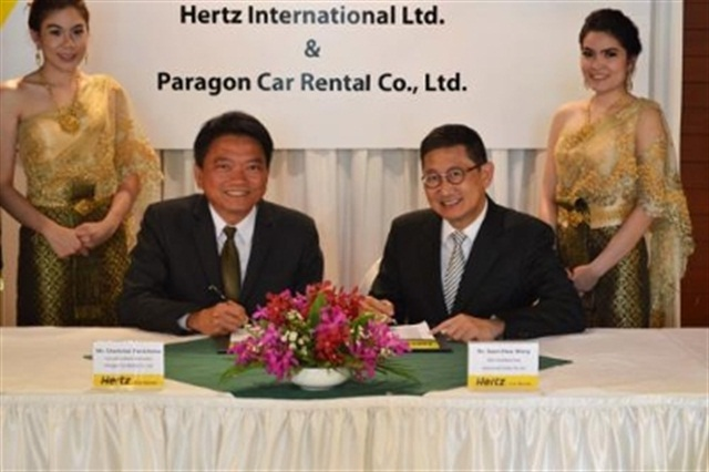 Hertz renews its agreement with its franchise partner Paragon Ca Rental Co. Ltd. Photo courtesy of Hertz Corp.