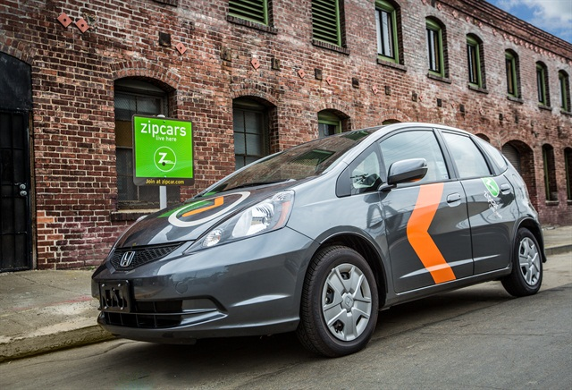 Zipcar ONE<WAY service will feature the 2015 Honda Fit. Photo courtesy of Zipcar.