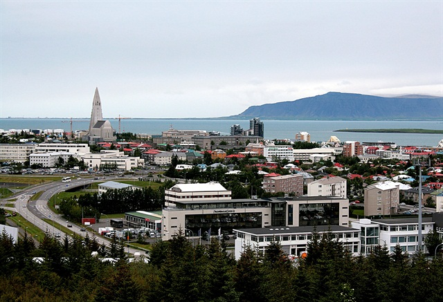 Reykjavik, capital of Iceland. Photo courtesy of Wikipedia.