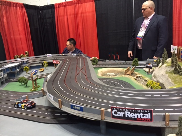 This year's exhibit hall included a fun zone presented by PurCo Fleet Services. Attendees raced cars and a winner was named each hour.
