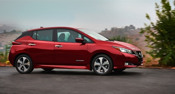 The 2018 Nissan Leaf will be the first vehicle added to Nissan's new carsharing service. (Photo courtesy of Nissan.)
