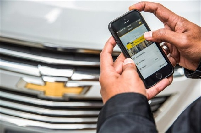GM's Let's Drive NYC carsharing program is now available to residents of The Ritz Plaza near Times Square. Photo courtesy of General Motors.