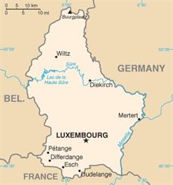 A map of Luxembourg. Photo via Wikimedia.