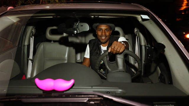 "Lyft is now using a pink ""glowstache."" Photo courtesy of Lyft."