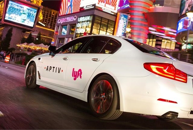 During CES, Lyft and Aptiv collaborated to provide rides to more than 20 locations along the Las Vegas strip. Photo courtesy of Aptiv.