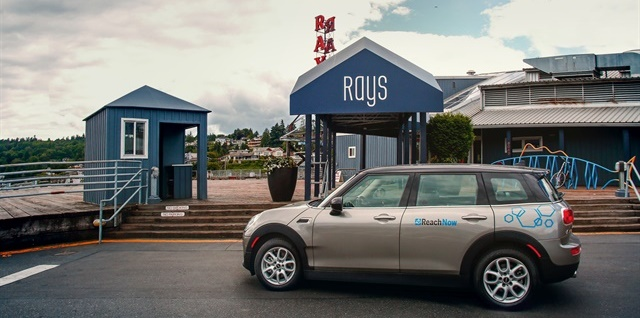 BMW's ReachNow carsharing service, which includes MINI Clubman vehicles, now offers long-term rates for up to five days. Photo courtesy of BMW.
