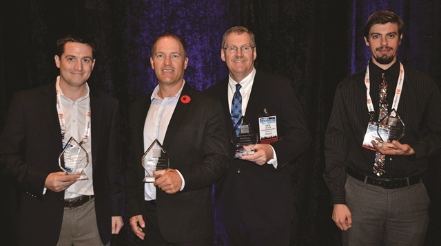 The 2014 Professional of the Year Awards winners (left to right) are Matt Vercollone of Verc Car Rental, Todd Foss of Grace Bay Car Rentals, Richard Wilcox of Enterprise Holdings and TJ Sammut of Bandago Van Rental. Photo by Amy Winter-Hercher.