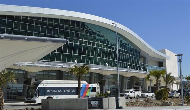 San Diego International Airport's Rental Car Center. Photo by Amy Winter-Hercher.