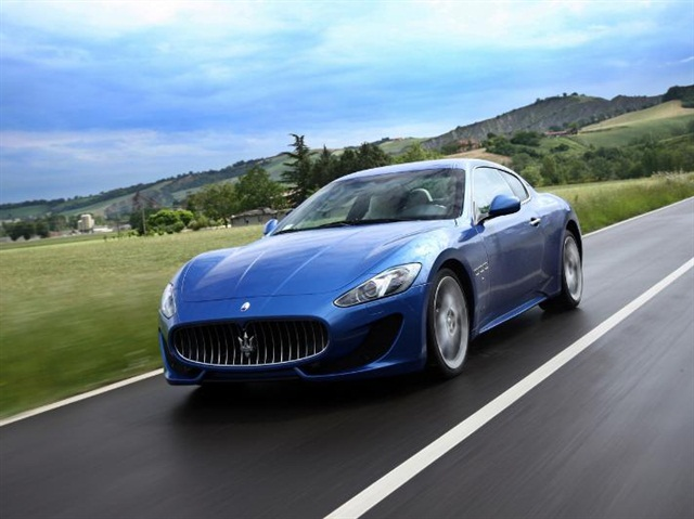 The Maserati GranTurismo is one of the new models added to Hertz's European Dream Collection. Photo credit: The Hertz Corp.