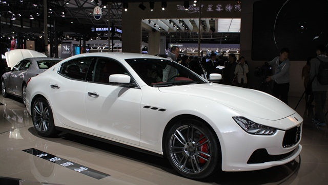 The Maserati Ghibli at the Auto Shanghai show in 2013. Photo via Wikimedia.