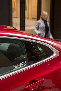 General Motors will provide Chevrolet Equinox SUVs for the drivers through its Maven carsharing business. Photo courtesy of GM.