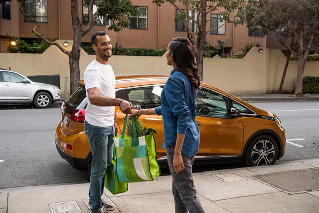 Maven Gig provides access on a weekly basis for drivers to use in different gigs, such as grocery delivery. Photo courtesy of GM.