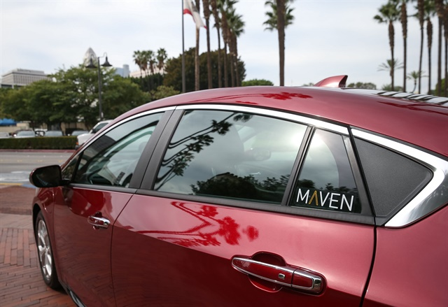 GM's carsharing service Maven is now available in Los Angeles. Photo courtesy of General Motors.
