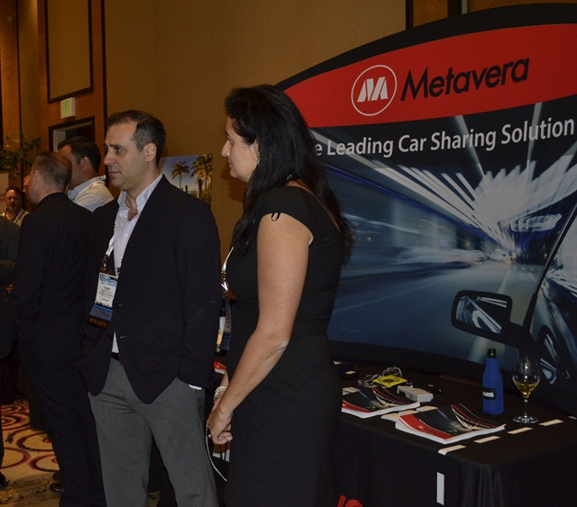 Tony Simopoulos, founder and president of Metavera, (left) at last year's Auto Rental Summit. Photo by Amy Winter-Hercher.