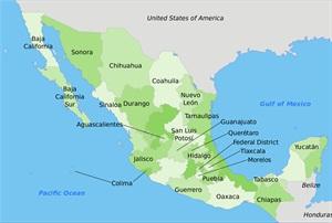 Map of Mexico. Photo via Wikimedia/Manuel Balarezo