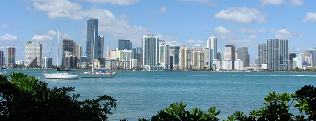 Miami had the least expensive rental rates out of 50 U.S. cities. Photo via Wikimedia.