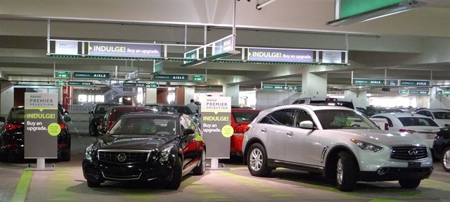 National Car Rental's Emerald Aisle for Emerald Club loyalty members. Photo courtesy of National.