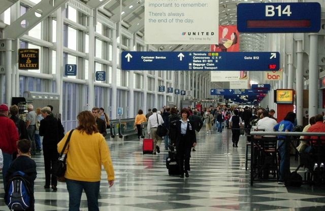 Chicago O'Hare International Airport. Photo via Wikimedia.