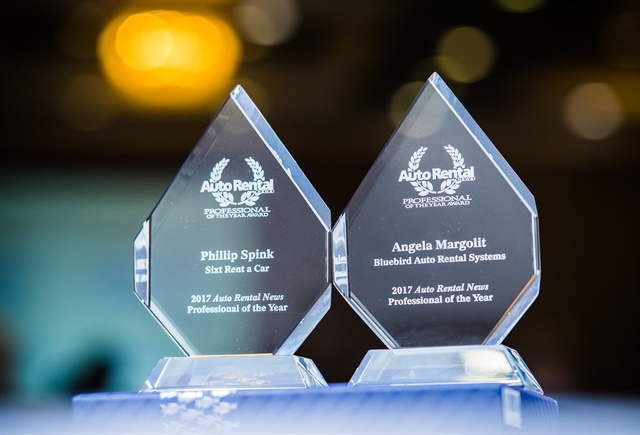 The Professional of the Year Award trophies were given to the winners at an awards ceremony. Photo by Jasen Delgado.