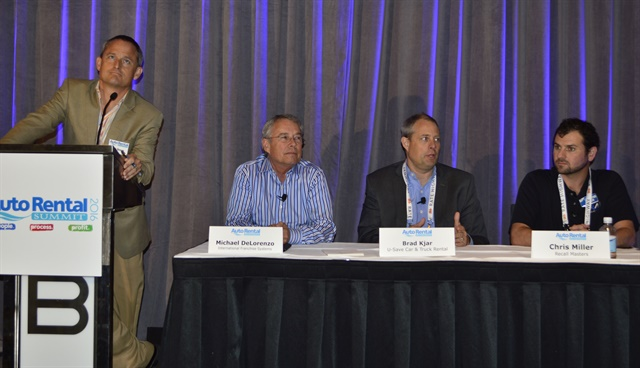 Seminars featured discussions on current topics affecting the car rental industry. This panel seminar tackled the issues of the new recall law. Photo by Amy Winter-Hercher.