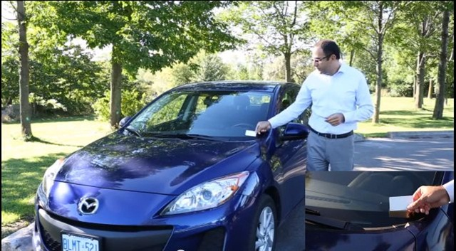 Rent Centric's car-share technology allows renters to scan a smart card over an RFID reader to unlock the car.