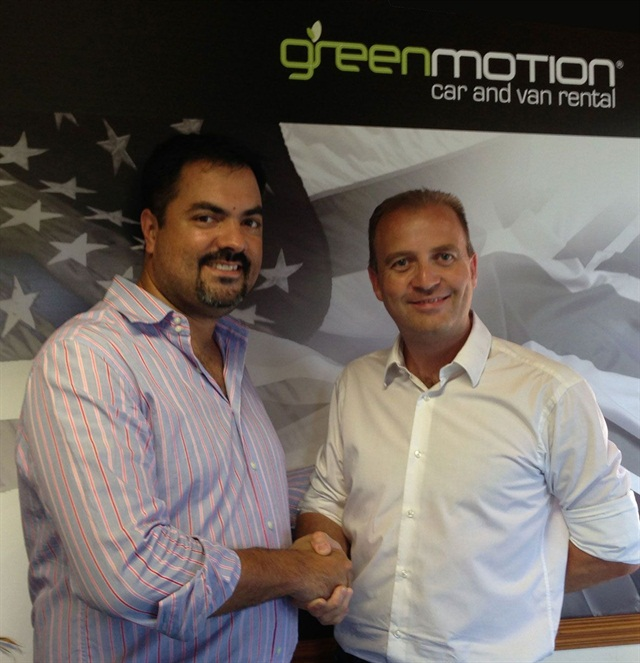 Richard Lowden of Green Motion and Patricio Franulic of Total Auto Rent