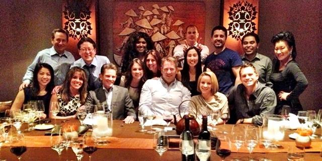 The MCar team celebrating Rick's birthday.