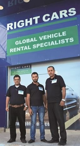 The Right Cars team from Jordan anchors a trade booth. Photo courtesy Right Cars.