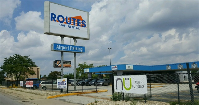 Routes Car Rental's new location near Chicago O'Hare International Airport. Photo courtesy of NU Car Rentals.