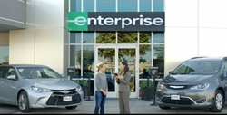 Screen shot from Enterprise's new TV commercial featuring Kristen Bell