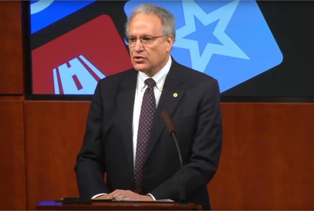 NHTSA Administrator Mark Rosekind discusses the latest Takata air bag inflator recall expansion during a May 4 press conference. Screen shot courtesy of NHTSA via YouTube.