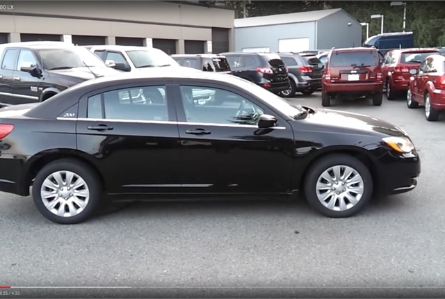Screen shot of Chrysler 200 via YouTube.