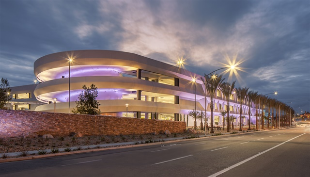 San Diego Airport's Rental Car Center won an award for its building construction. Photo courtesy of San Diego County Regional Airport Authority.