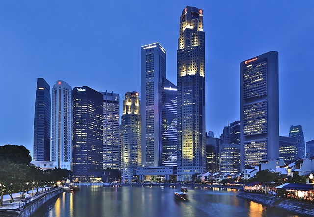 Singapore's skyline. Photo via Wikimedia.