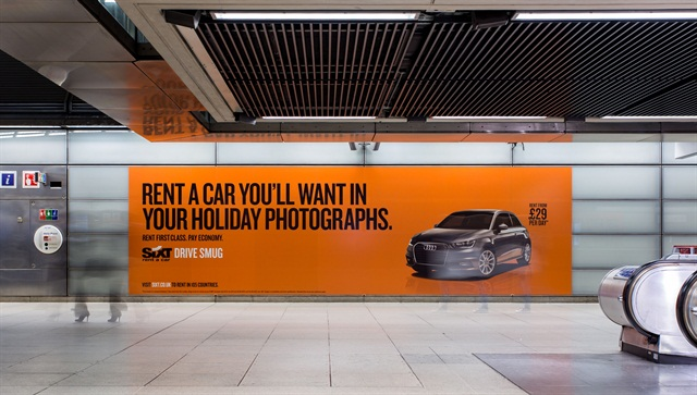 An example of one of Sixt's new billboards. Photo courtesy of Sixt.