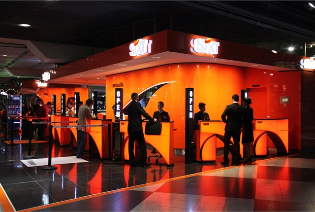 The Sixt Dusseldorf Airport location demonstrates Sixt's new design language.