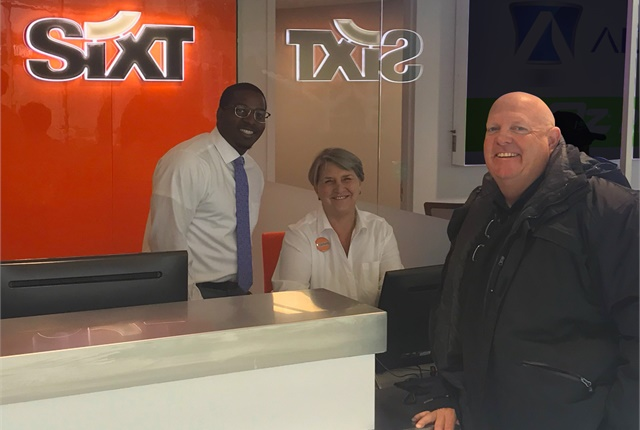 The Sixt San Antonio team anticipates its first official day. Photo courtesy of Six.