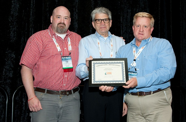 Joseph Spall of Spallco Rentals (right) received the award for best vehicles. Photo by Joseph Cancellare.