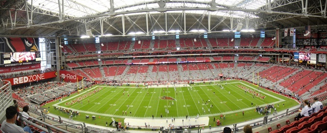 The rental car taxes were helping to make debt payments on the University of Phoenix football stadium. Photo via Wikimedia.