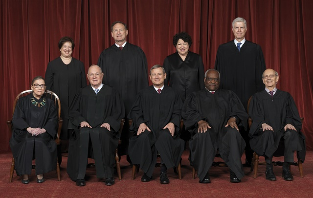 The U.S. Supreme Court Justices. Photo via WikiMedia
