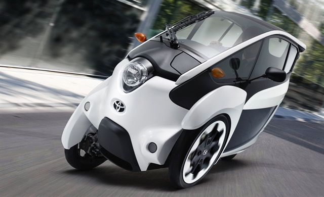 Tokyo's pilot carsharing program will feature Toyota's i-ROAD, a three-wheeled electric vehicle. Photo courtesy of Toyota.