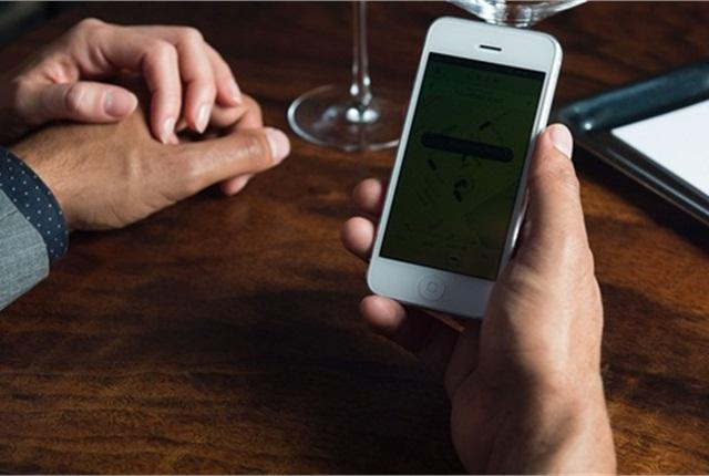 Uber's mobile app platform. Photo courtesy of Uber.