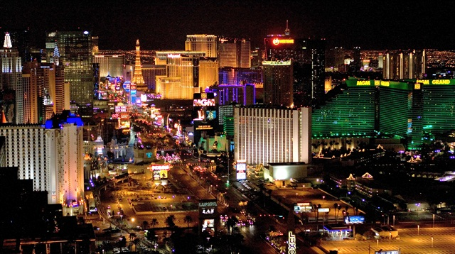 Las Vegas has had the biggest drop in rental rates, declining by 18% since 2013, according to Travel Leaders Corporate's analysis.Photo via Wikimedia.