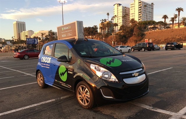 One of WaiveCar's ad-sponsored carsharing vehicles. Photo courtesy of WaiveCar.