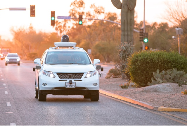 California law requires the presence of a human driver during testing of autonomous vehicles, but the state is preparing to change that policy. Photo courtesy of Waymo (previously known as the Google self-driving car project).