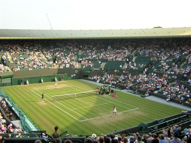 A Wimbledon court. Photo via Wikimedia.
