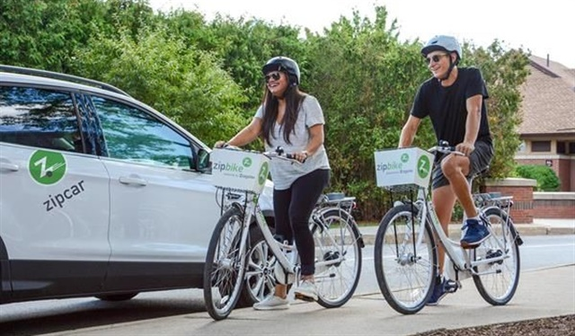 Zipcar and Zagster have teamed up to launch Zipbike on college campuses. Photo courtesy of Zipcar.