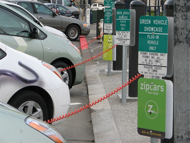 Zipcar is one of the car-sharing companies participating in the parking program. Photo via Wikipedia.