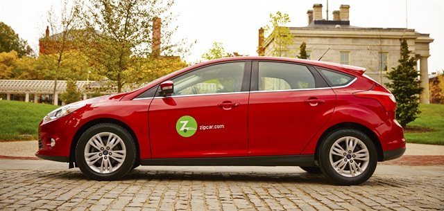 Zipcar is one of the carsharing partners in DriveBoston's carsharing program. Photo via Zipcar.