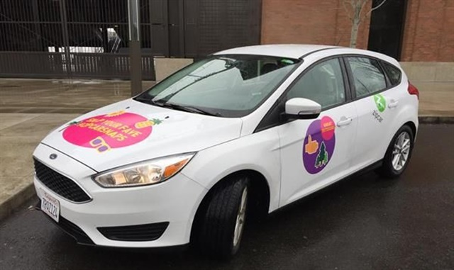 Zipcar's emoji cars create a fun and playful brand experience. Photo courtesy of Zipcar.